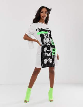 Diesel graphic long sleeve t shirt dress