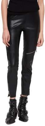 AllSaints Kriva Faux Leather Biker Leggings
