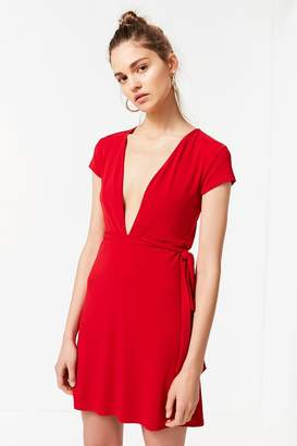 Urban Outfitters Toni Plunging Tie-Waist Dress