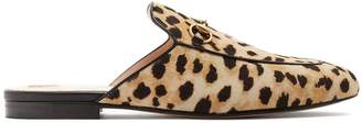 Gucci Princetown calf-hair backless loafers