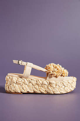 Paloma Barceló Flower Platform Sandals