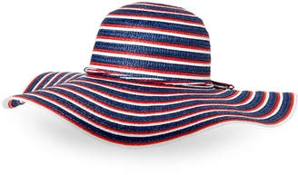 Tropical Trends Striped Paper Floppy Hat