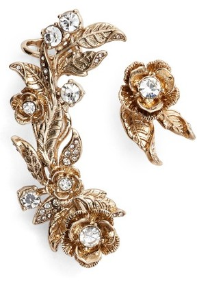 Women's Marchesa Mismatched Earrings Ear Crawler & Stud $78 thestylecure.com