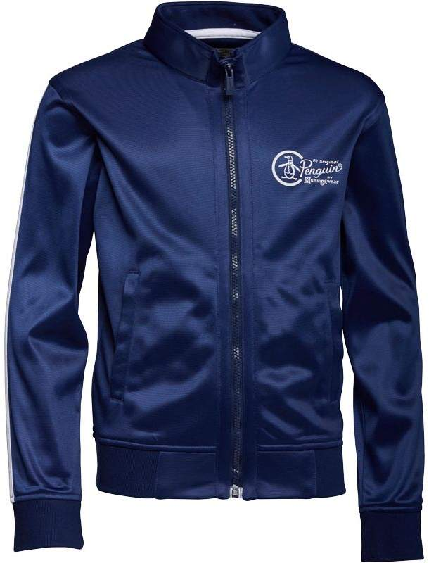 Boys Zip Front Tricot Jacket Blue Depths