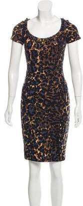 Blumarine Printed Embellished Dress