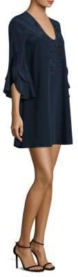 Lilly Pulitzer Tatiana Stretch Silk Bell-Sleeve Dress