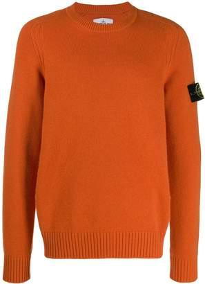 Stone Island logo long-sleeve sweater