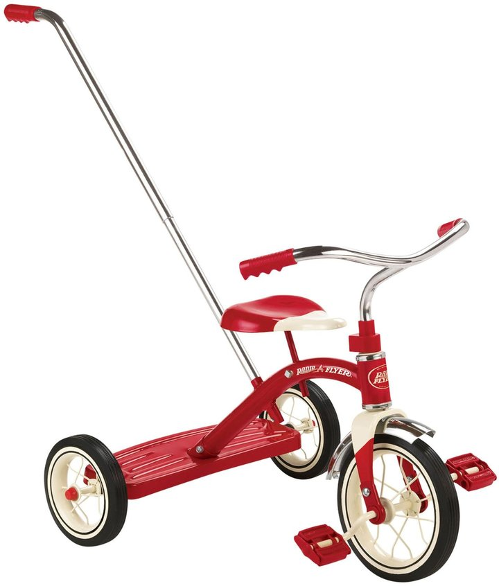 Radio Flyer Classic Red 10 inch Tricycle with Optional Push Handle