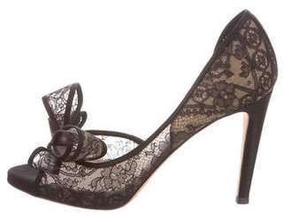 1e18e8d0fd7 Pre-Owned at TheRealReal · Valentino Couture Bow Lace Pumps
