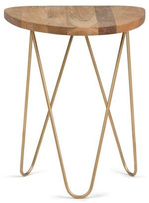 Simpli Home Patrice Metal/Wood Accent Table