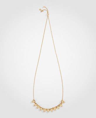 Ann Taylor Crystal Metallic Slider Necklace