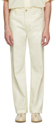 Acne Studios White Workwear Trousers