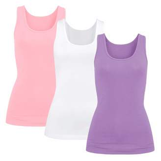 0361a07a464f5f H HIAMIGOS Womens Modal Built-in Bra Padded Camisole Yoga Tanks Tops