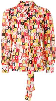 Elisabetta Franchi logo print blouse