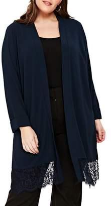 Evans Lace Trim Kimono Jacket