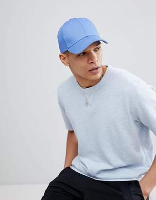 Asos DESIGN baseball cap in blue