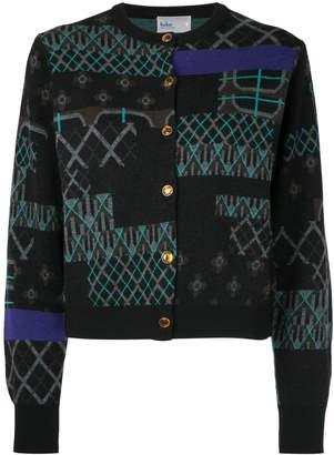 Kolor cropped intarsia cardigan