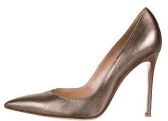 Gianvito Rossi Metallic Pointed-Toe Pumps