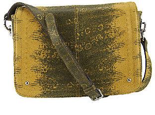 B. MakowskyAs Is B. Makowsky Leather East/ West Flap Crossbody Bag