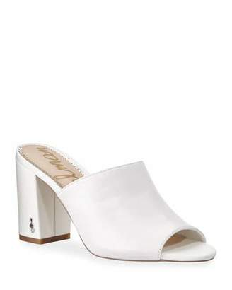 ba94faa6e Sam Edelman White Leather Footbed Women s Sandals - ShopStyle