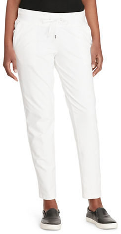 Lauren Ralph Lauren Petite Plus Drawstring Straight Pants