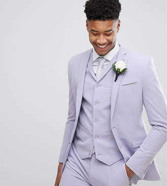 Asos DESIGN TALL Wedding Super Skinny Fit Suit Jacket In Lilac