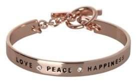 BCBGeneration Basic Studded Love Peace Happiness Bracelet