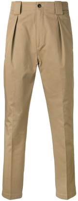 Etro front pleat tapered trousers