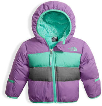 The North Face Girls' Moondoggy 2.0 Down Quilted Jacket, Purple, Size 3-24 Months