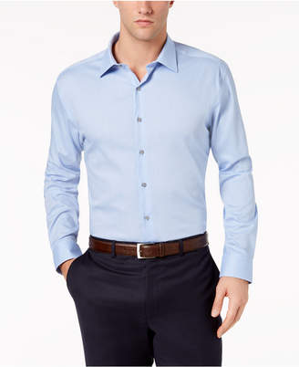 Alfani AlfaTech by Men's Athletic Fit Performance Stretch Step Twill Textured Dress Shirt, Created For Macy's