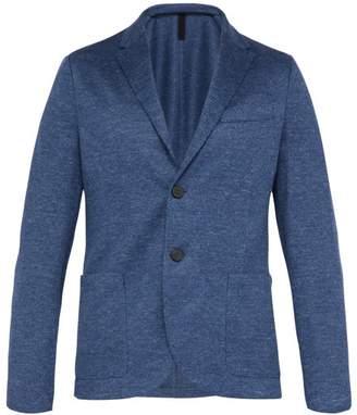 Harris Wharf London Jaspe Single Breasted Linen Blazer - Mens - Denim