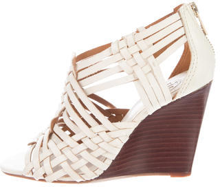 Tory Burch Tory Burch Woven Leather Wedges