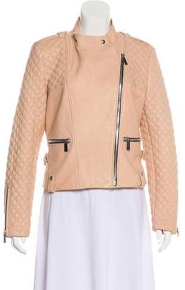 Barbara Bui Leather Zip-Up Jacket w/ Tags