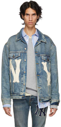Gucci Blue NY Yankees Edition Patch Denim Jacket