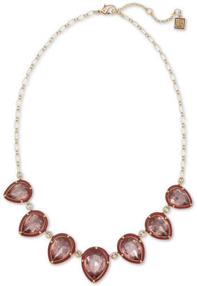 """Laundry by Shelli Segal Gold-Tone Stone Statement Necklace, 16"""" + 2"""" extender"""