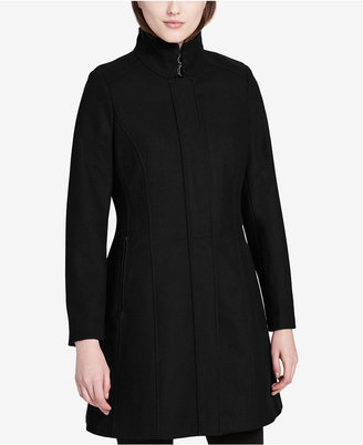 Calvin Klein Buckled Stand-Collar Walker Coat