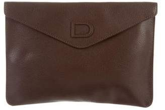 Delvaux Fusee Leather Envelope Clutch