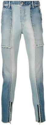 John Undercover patchwork skinny jeans