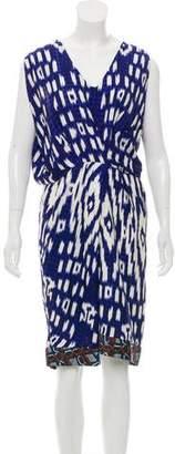 Dries Van Noten Silk Ikat Print Dress