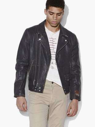 John Varvatos Brompton Leather Double Zip Biker