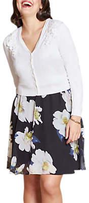 Yumi Curves Lace Bolero Cardigan, Ivory