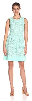Jessica Howard Women's Sleeveless Pintuck Fit and Flare $108.99 thestylecure.com