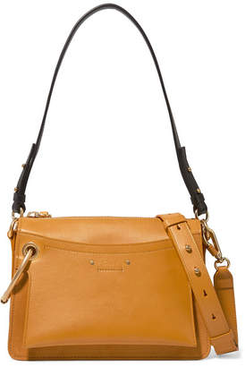 Chloé Roy Day Small Leather And Suede Shoulder Bag - Saffron