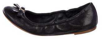 Louis Vuitton Leather Round-Toe Flats