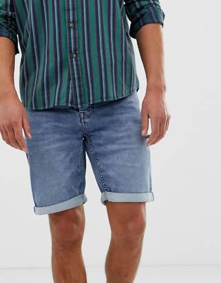ONLY & SONS denim shorts in washed blue