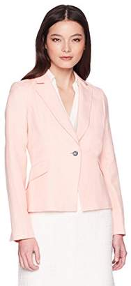 Calvin Klein Women's Petite Linen One Button Jacket