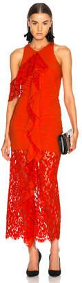 Proenza Schouler Corded Lace Ruffle Sleeveless Maxi Dress