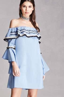 FOREVER 21+ Off-the-Shoulder Shift Dress $48 thestylecure.com