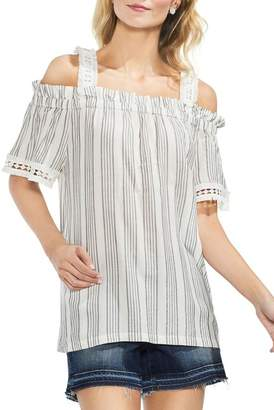 Vince Camuto Cold Shoulder Striped Blouse