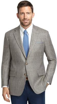 Brooks Brothers Regent Fit Green Check Matka Sport Coat